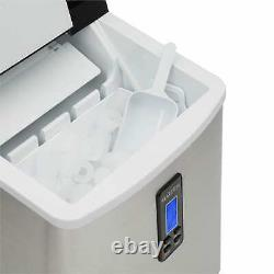 Ice Maker Machine Ice Cube Countertop 15 kg/ day 3.3L 150W Stainless Steel Black