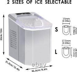 Ice Maker Machine Ice Cube Maker Large Counter Top 2 Size Ice Cube Scoop Basket