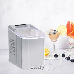 Ice Maker Portable Counter Top Ice Cube Machine 26lbs Per Day Kitchen Appliances