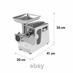 Kitchen Machine Electric Mincer Meat Grinder 700 W Copper Motor 3 discs Silver