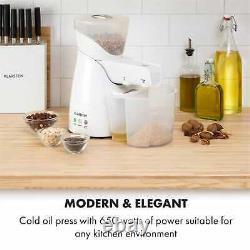 Kitchen Machine Oil Press Cold 650W 700g 2 Screws Nuts Seeds Preheating White