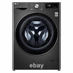 LG F4V910BTSE Freestanding Washing Machine 10.5L 1400RPM Black Steel