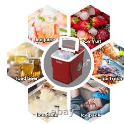 LOEFME Ice Maker Machine Compact Portable Countertop Ice Cube Maker 12KG/24H 2L