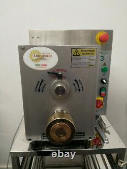 La Monferrina P3 professional pasta machine with automatic cutter and stand