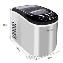 Large Ice Maker Machine 2.2L 26lbs/24H Portable Countertop Ice Cube Maker UK