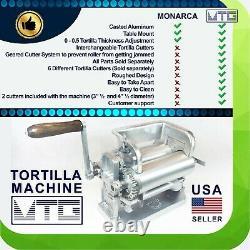 MTG Tortilla Machine Gen5 Roller Crank Full PK 2 Cutters Included 3.5 and 4.5