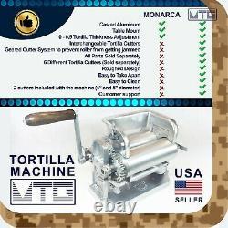 MTG Tortilla Machine Gen5 Roller Crank Full PK 2 Cutters Included 4 and 5