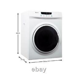 Magic Chef MCSDRY35W 3.5 Cubic Feet Compact Home Laundry Dryer Machine, White