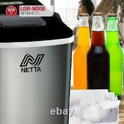 NETTA Silver Automatic Countertop Ice Cube Maker Machine No Plumbing Required