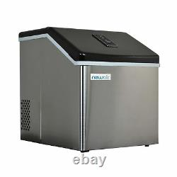 NewAir Portable Ice Maker Machine Countertop Stainless Steel 40 Lbs Silver New