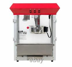 New Commercial Popcorn Popper Countertop Stainless Red Machine Maker, 8 oz, 850W