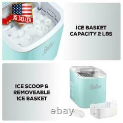 Nugget Ice Machine Portable Small Compact Counter Top Ice Maker for Home RV Camp