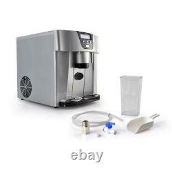 NutriChef PICEM75 Countertop Ice Cube Making Machine, Ice Maker & Dispenser