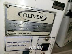 Oliver 702-N. 723N Commercial Bun Bread & Bagel Slicer Machine