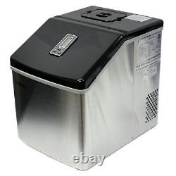 Portable 39 Lbs/Day Counter Top Ice Maker Making Machine Stainless Steel Cubes