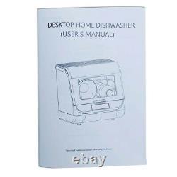 Portable Mini Countertop Dishwasher Home Table Dishwashing Machine 4 Programs UK