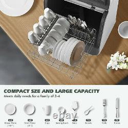 Portable Mini Countertop Dishwasher Home Table Dishwashing Machine 5 Programs UK