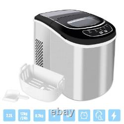 Portable Stainless Steel Ice Cube Maker Ice Machine Countertop 12KG/24H 2.2L UK
