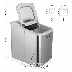 Professional Electric Ice Cube Maker Machine Counter Top Fast Automatic