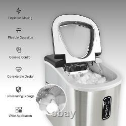 Professional Electric Ice Cube Maker Machine Counter Top Fast Automatic 12kg/24H