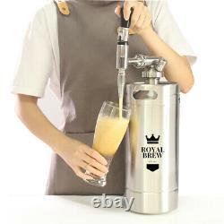 Royal Brew 128 OZ Nitro Cold Brew Coffee Maker Machine Steel Keg Home Kegerator