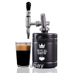 Royal Brew Nitro Cold Brew Coffee Maker Machine Steel Keg Growler Home Kegerator