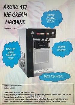 SOFT ICE CREAM MACHINES Table-top Space saving 3 Flavor Mac New