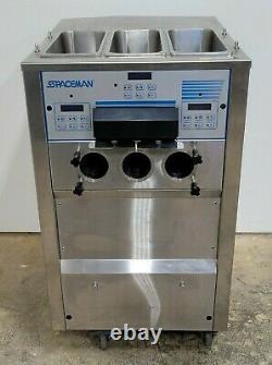 Spaceman 6265 3 Flavors Soft Serve Ice Cream Machine with (3) 8.5qt Hopper
