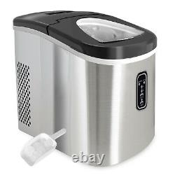 Stainless Steel 2.2L Countertop Ice Cube Maker Machine Quick Ice Making & Quiet