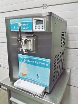 Supreme Ice Cream Soft Serve Machine SS1 Counter Top Whippy Whipped In Stock