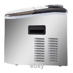 VEVOR 40lbs/24H Commercial Ice Cube Maker Machine Counter Top Automatic/Manual