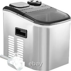 VEVOR 40lbs Commercial Ice Cube Maker Machine Counter Top withAuto Water Dispense