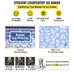 VEVOR 70LB Countertop Cube Ice Machine Maker 35KG Ice Freezer for Home Bar 350W