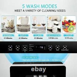 VIVOHOME 110V 840W Electric Portable Compact Countertop Small Dishwasher Machine