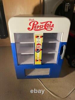 Vintage Pepsi cola fridge vending machine