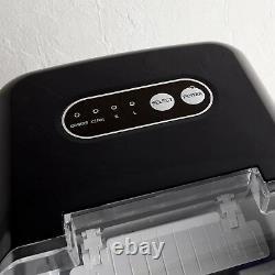 VonShef Ice Cube Maker Machine Countertop No Plumbing Required Water Indicator