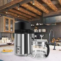 ZOKOP 4L Countertop Water Distiller Machine Home Pure Water Purifier Filter 750W