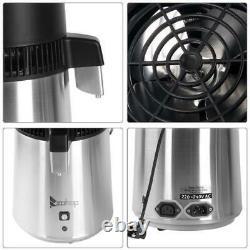 ZOKOP 750W 4L Countertop Water Distiller Machine Home Pure Water Purifier Filter